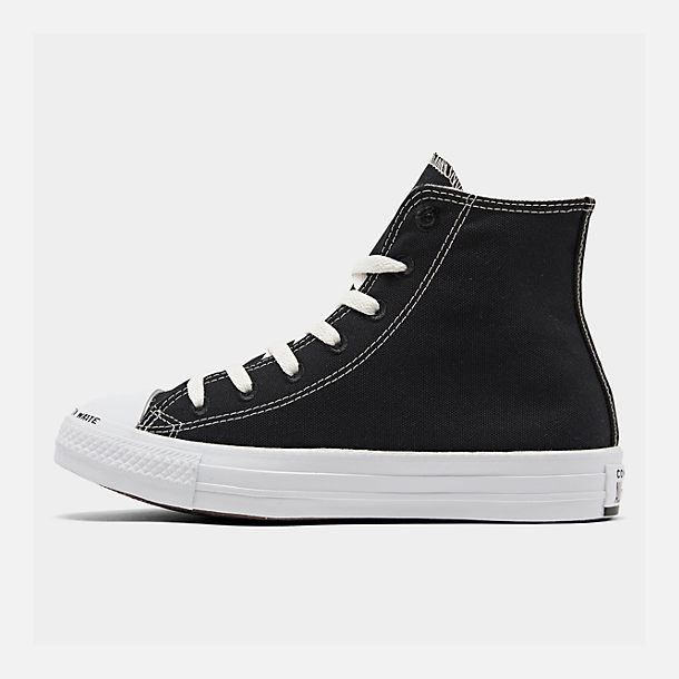 Right view of Men's Converse Chuck Taylor All Star Renew High Top Casual Shoes in Black/Black/White
