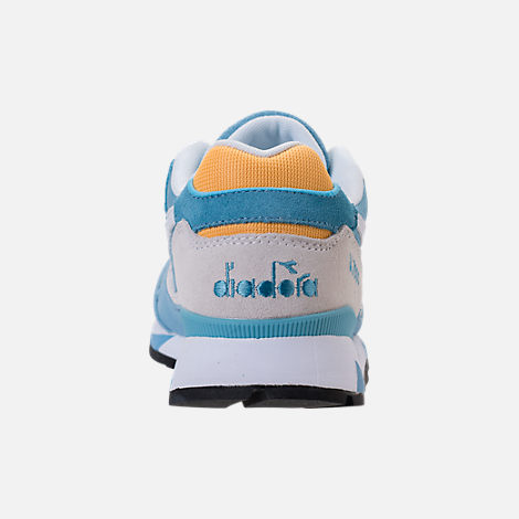 Back view of Unisex Diadora V7000 NYL II Casual Shoes in Light Blue/White/Yellow