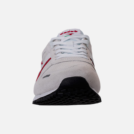 Front view of Unisex Diadora Titan Premium Casual Shoes in Grey/Black/Red/White