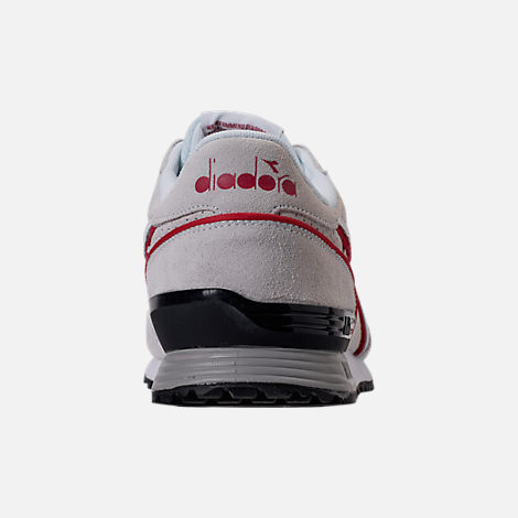 Back view of Unisex Diadora Titan Premium Casual Shoes in Grey/Black/Red/White