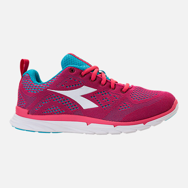 Right view of Unisex Diadora NJ-303 Trama 2 Running Shoes in Hot Pink/Aqua/White