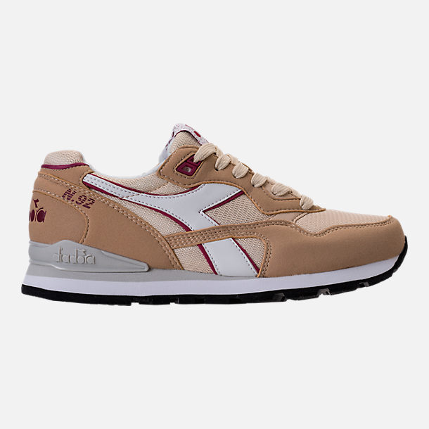 Right view of Unisex Diadora N-92 Casual Shoes in Beige/Red/White