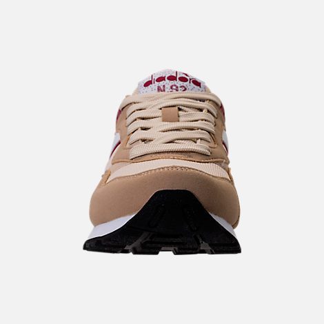 Front view of Unisex Diadora N-92 Casual Shoes in Beige/Red/White