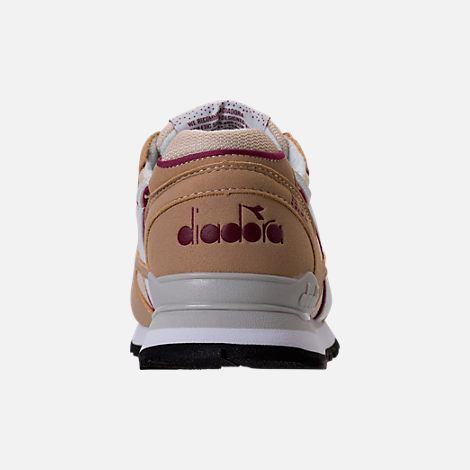 Back view of Unisex Diadora N-92 Casual Shoes in Beige/Red/White
