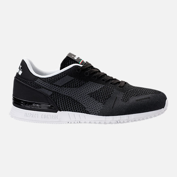 Right view of Men's Diadora Titan Weave Casual Shoes in Black/White