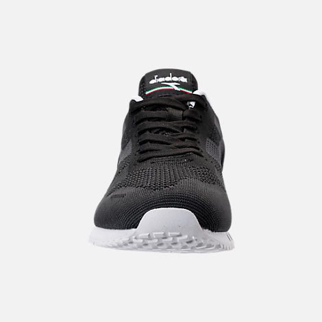 Front view of Men's Diadora Titan Weave Casual Shoes in Black/White
