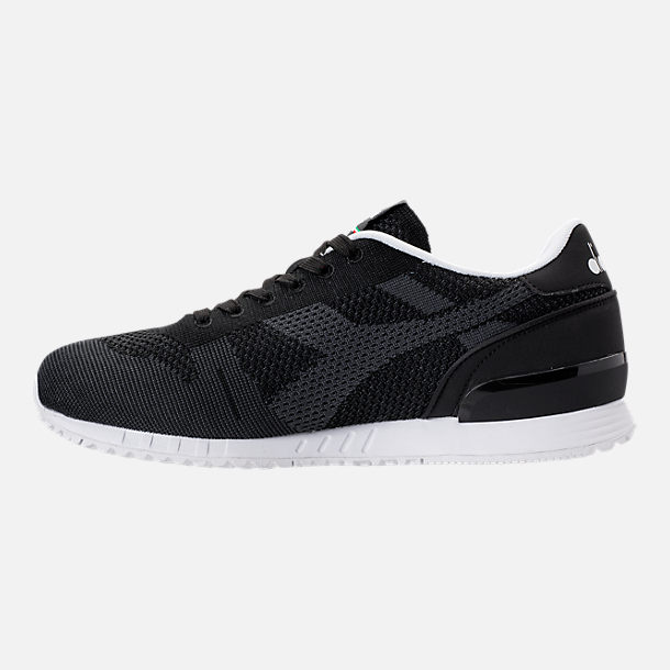 Left view of Men's Diadora Titan Weave Casual Shoes in Black/White