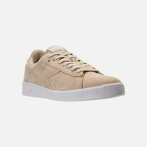 Three Quarter view of Men's Diadora Game L Low Casual Shoes in Beige Bleached