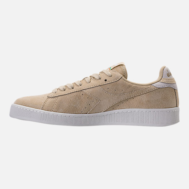 Left view of Men's Diadora Game L Low Casual Shoes in Beige Bleached