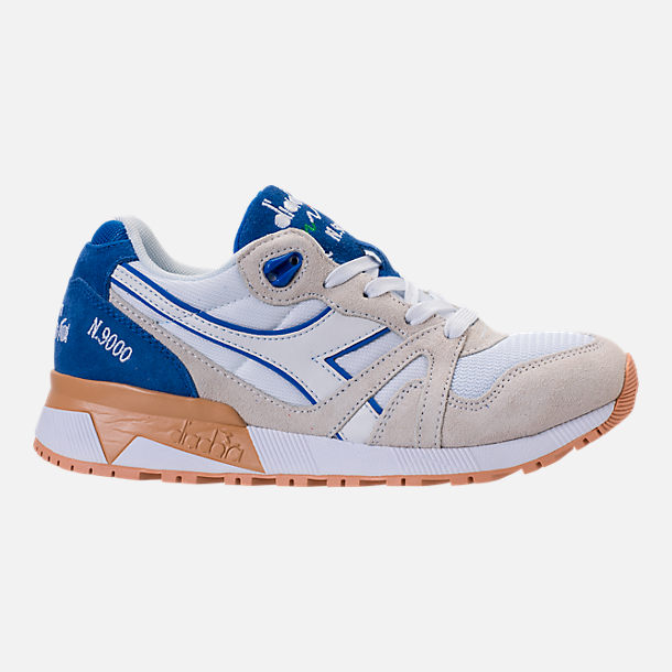 Right view of Unisex Diadora N9000 III Casual Shoes in Stone/White/Blue