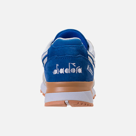 Back view of Unisex Diadora N9000 III Casual Shoes in Stone/White/Blue