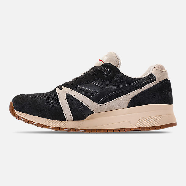 Left view of Unisex Diadora N9000 III Casual Shoes in Black/White/Off White