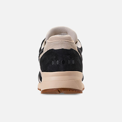 Back view of Unisex Diadora N9000 III Casual Shoes in Black/White/Off White
