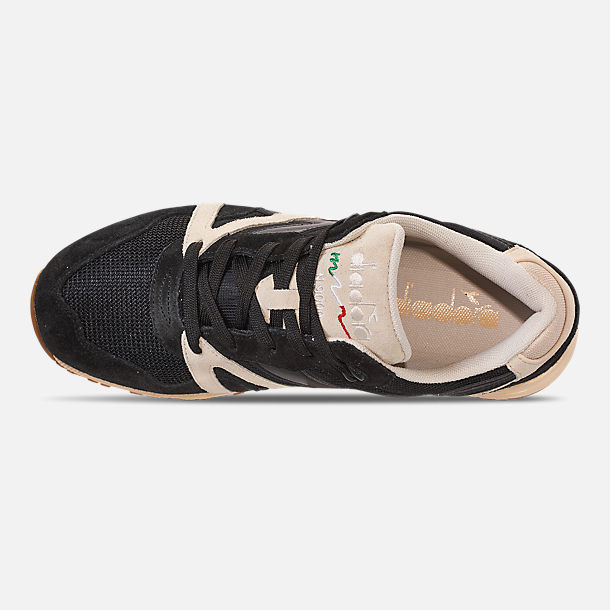 Top view of Unisex Diadora N9000 III Casual Shoes in Black/White/Off White