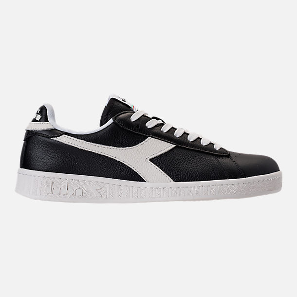 Right view of Unisex Diadora Game L Low Casual Shoes in Black/White
