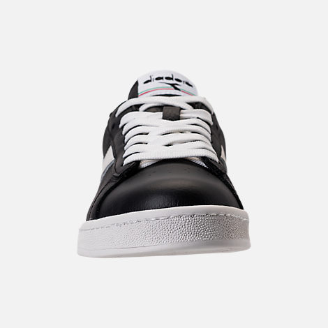 Front view of Unisex Diadora Game L Low Casual Shoes in Black/White