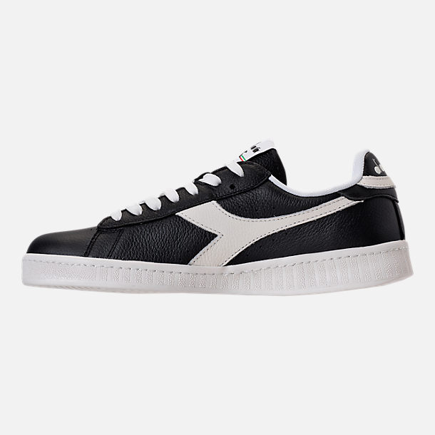 Left view of Unisex Diadora Game L Low Casual Shoes in Black/White