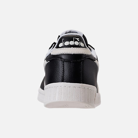 Back view of Unisex Diadora Game L Low Casual Shoes in Black/White