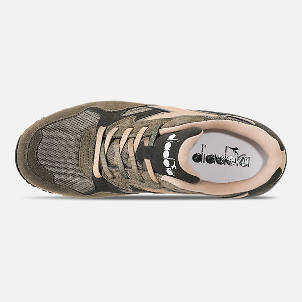 Top view of Men's Diadora N902 Speckled Casual Shoes in Pewter/Beige/Dark Grey