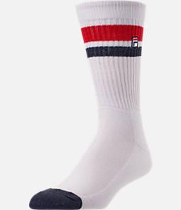 Unisex Fila Heritage Varsity Stripe Crew Socks