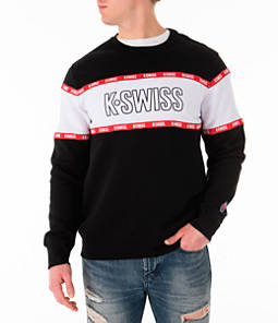 Men's K-Swiss Swiss Tape Fleece Crewneck Sweatshirt