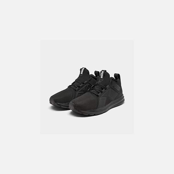 Three Quarter view of Men's Puma Enzo Casual Shoes in Black