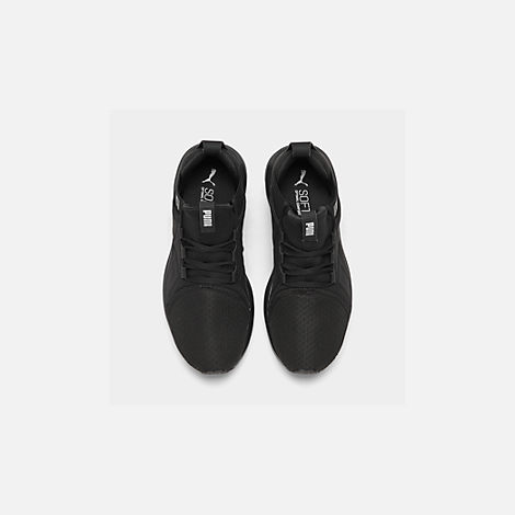 Back view of Men's Puma Enzo Casual Shoes in Black