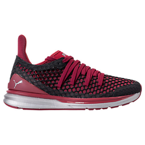 fa7c2829f34 Puma Men S Ignite Limitless Netfit Nightcat Casual Sneakers From Finish Line  In Tibetan Red- Black
