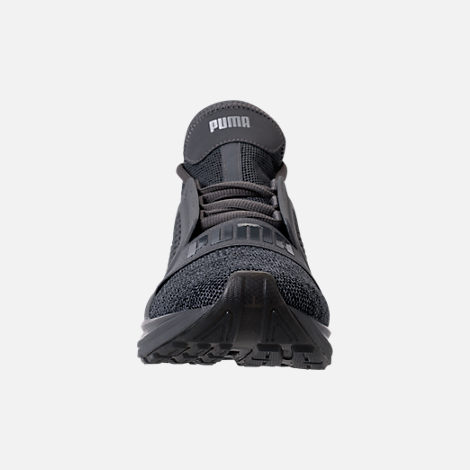 Front view of Men's Puma Ignite Limitless Knit Casual Shoes in Quiet Shade/Puma Silver