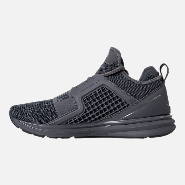 Left view of Men's Puma Ignite Limitless Knit Casual Shoes in Quiet Shade/Puma Silver