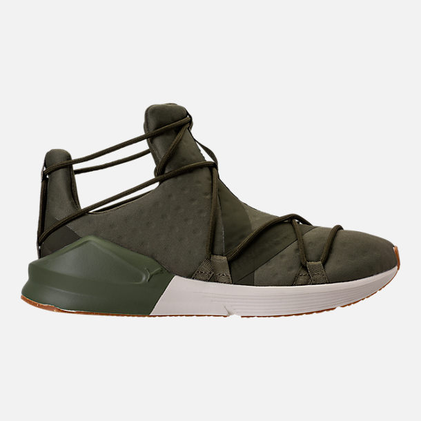 Right view of Women's Puma Fierce Rope VR Training Shoes in Olive Night/Whisper  White