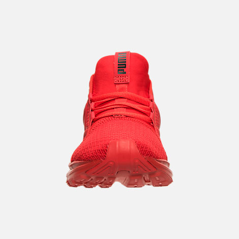 Front view of Boys' Grade School Puma Enzo Running Shoes in High Risk Red/Black