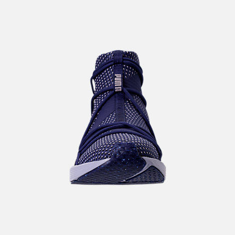 Front view of Women's Puma Fierce Rope Velvet Training Shoes in Blue Depths/Icelandic Blue