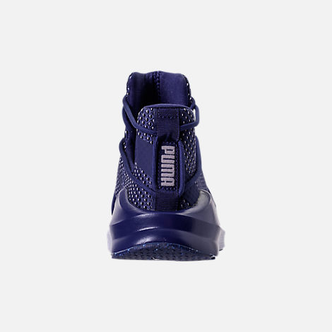 Back view of Women's Puma Fierce Rope Velvet Training Shoes in Blue Depths/Icelandic Blue