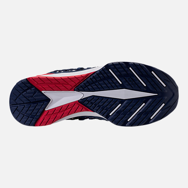 Bottom view of Men's Puma Ignite NETFIT Running Shoes in Blue/Red/White