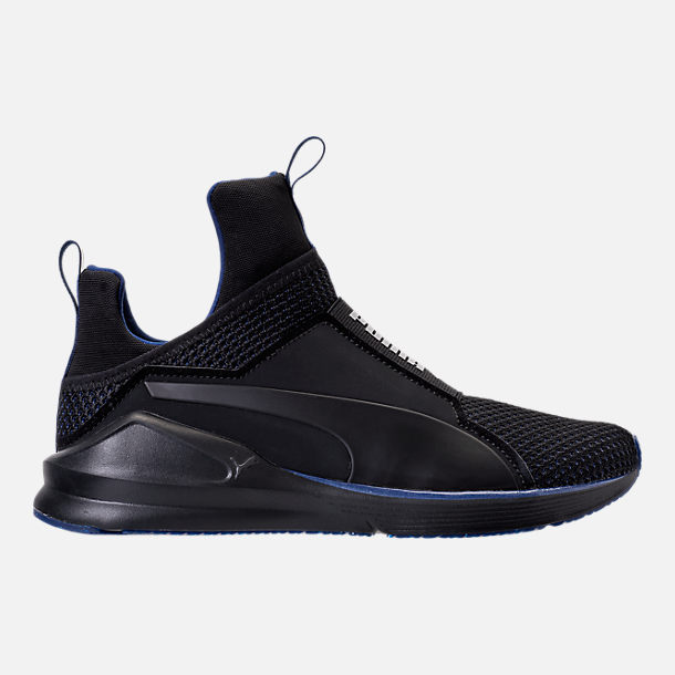 Right view of Women's Puma Fierce Velvet Training Shoes in Puma Black/Icelandic Blue