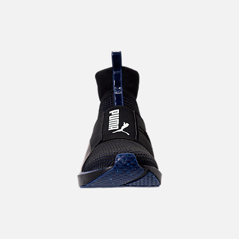 Front view of Women's Puma Fierce Velvet Training Shoes in Puma Black/Icelandic Blue