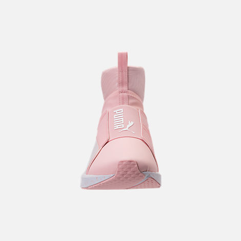 Front view of Women's Puma Fierce Bleached Training Shoes in Veiled Rose/Puma White