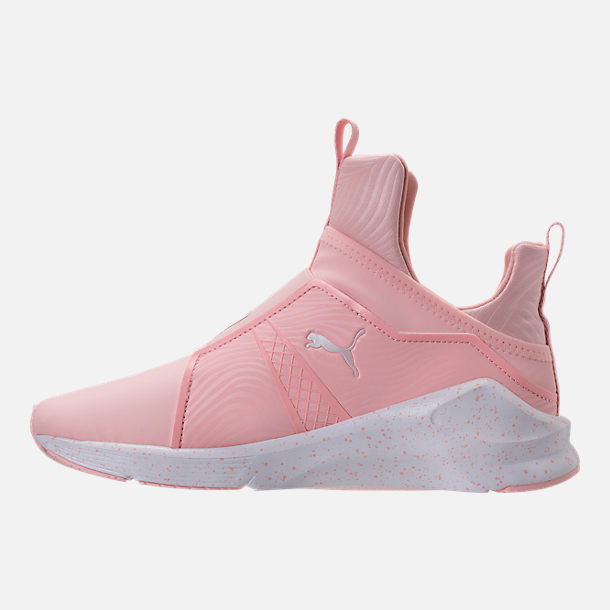Left view of Women's Puma Fierce Bleached Training Shoes in Veiled Rose/Puma White