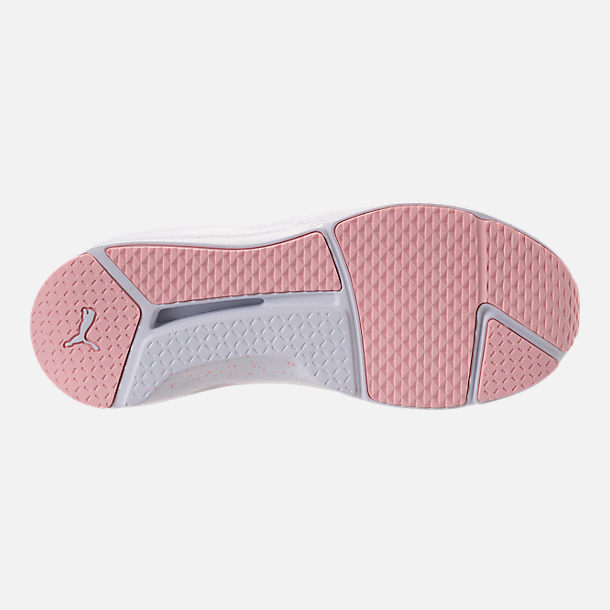 Bottom view of Women's Puma Fierce Bleached Training Shoes in Veiled Rose/Puma White