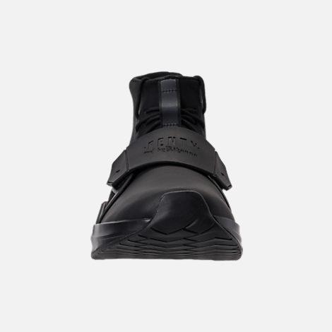 Front view of Women's Puma x Rihanna Fenty Trainer Hi Casual Shoes in Puma Black