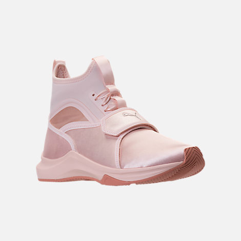 Three Quarter view of Women's Puma Phenom Satin EP Casual Shoes in Pearl/Pearl