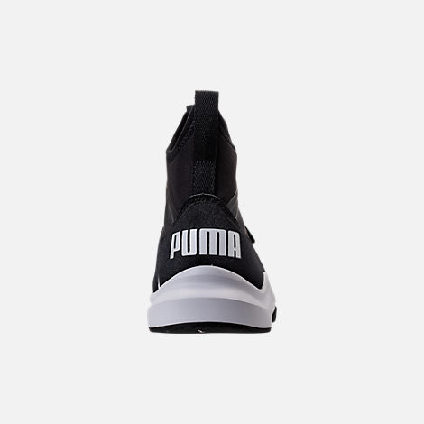 Back view of Girls' Grade School Puma Phenom Casual Shoes in Black/White