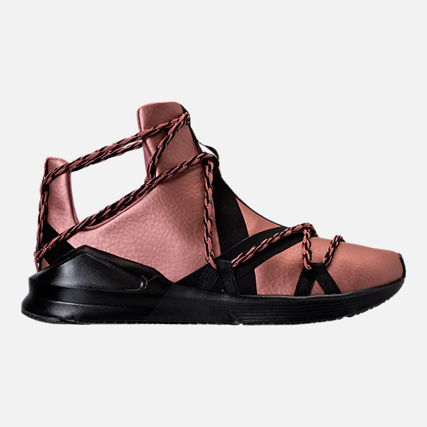 Right view of Women's Puma Fierce Rope Copper Velvet Rope Training Shoes in Copper Rose/Black
