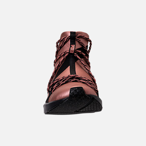 Front view of Women's Puma Fierce Rope Copper Velvet Rope Training Shoes in Copper Rose/Black