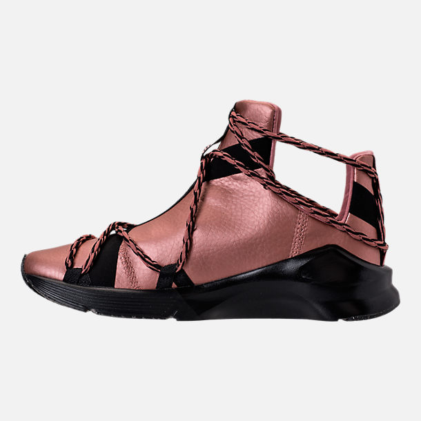 Left view of Women's Puma Fierce Rope Copper Velvet Rope Training Shoes in Copper Rose/Black