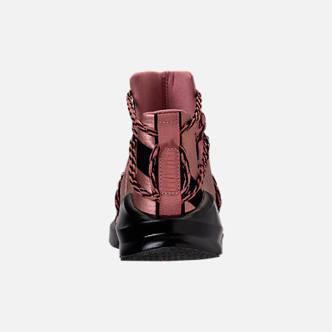 Back view of Women's Puma Fierce Rope Copper Velvet Rope Training Shoes in Copper Rose/Black