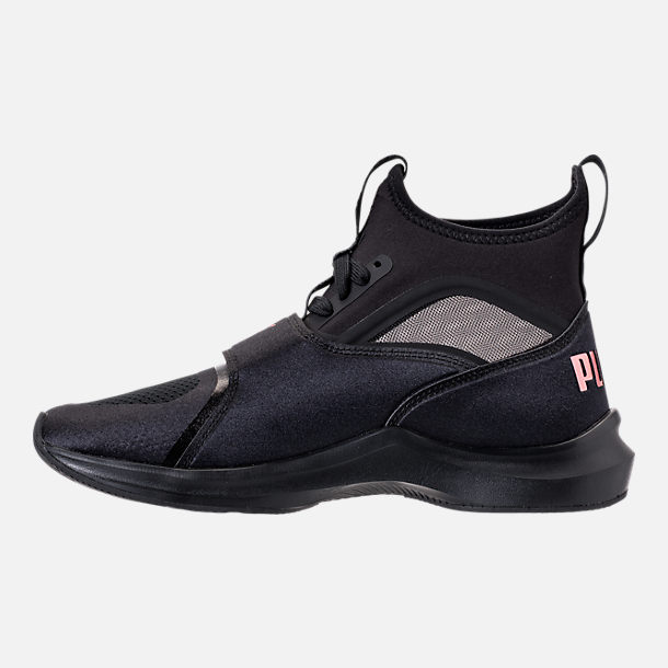 Left view of Women's Puma Phenom Casual Shoes in Puma Black