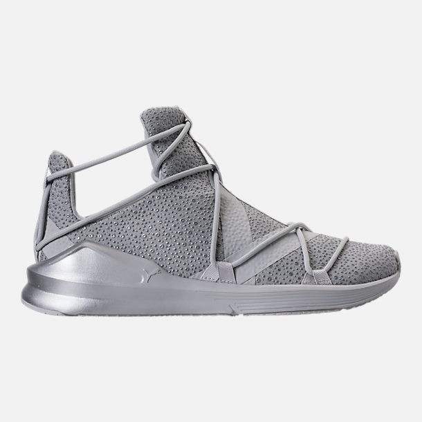 Right view of Women's Puma Fierce Rope Chandelier Training Shoes in Glacier Grey/Grey