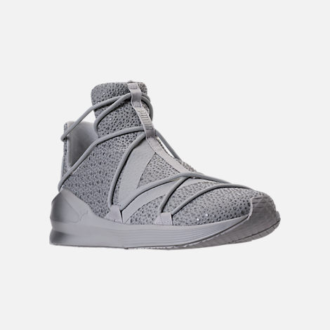 Three Quarter view of Women's Puma Fierce Rope Chandelier Training Shoes in Glacier Grey/Grey